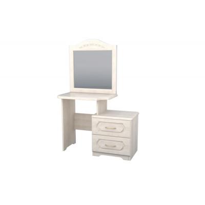 Стол Dreamline туалетный с тумбой и зеркалом №1 бук 78х45х73