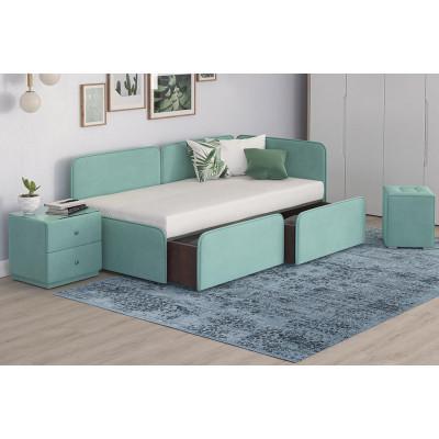 Кровать мягкая Тетрис с ящиками для хранения